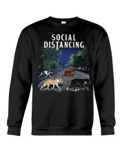 Social Distancing Pitbull Social Distancing Crewneck Sweatshirt thumbnail