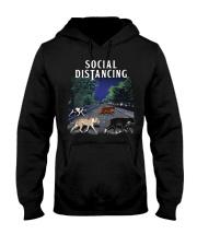 Social Distancing Pitbull Social Distancing Hooded Sweatshirt thumbnail