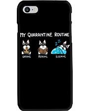 My Quarantine Routine schnauzer Phone Case thumbnail