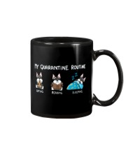 My Quarantine Routine schnauzer Mug thumbnail