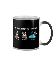 My Quarantine Routine schnauzer Color Changing Mug thumbnail