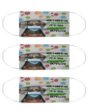 Dachshund 2 Cloth Face Mask - 3 Pack front