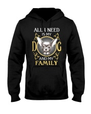 All L Need Is My And My Family frenchie Hooded Sweatshirt thumbnail