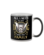 All L Need Is My And My Family frenchie Color Changing Mug thumbnail