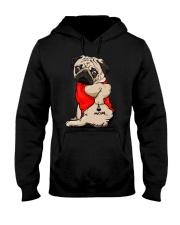 Pug Ilove Mom Hooded Sweatshirt thumbnail