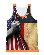 Texas All-over Unisex Tank front