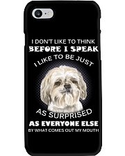 I Don'T Like To Think Before I Speak Shih Tzu Phone Case thumbnail