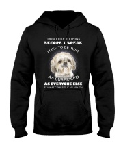 I Don'T Like To Think Before I Speak Shih Tzu Hooded Sweatshirt thumbnail