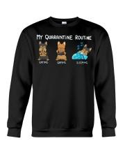 My Quarantine Routine Yorkie4 Crewneck Sweatshirt thumbnail