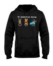 My Quarantine Routine Yorkie4 Hooded Sweatshirt thumbnail