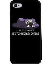I Like To Stay Inside IT'S Too Peopley pug 2 Phone Case thumbnail