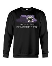 I Like To Stay Inside IT'S Too Peopley pug 2 Crewneck Sweatshirt thumbnail