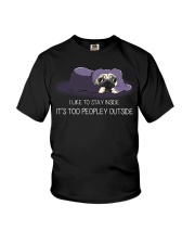 I Like To Stay Inside IT'S Too Peopley pug 2 Youth T-Shirt thumbnail