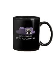 I Like To Stay Inside IT'S Too Peopley pug 2 Mug thumbnail