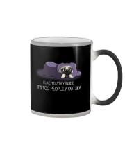 I Like To Stay Inside IT'S Too Peopley pug 2 Color Changing Mug thumbnail