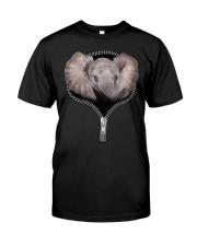 Elephant Zipper Shirt Classic T-Shirt front