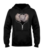 Elephant Zipper Shirt Hooded Sweatshirt thumbnail