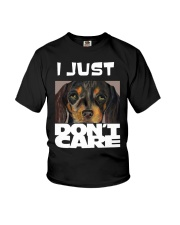 I Just Don'T Care Dachshund Dont Care Youth T-Shirt thumbnail