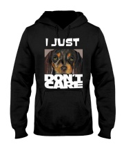 I Just Don'T Care Dachshund Dont Care Hooded Sweatshirt thumbnail