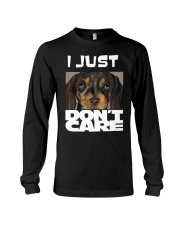 I Just Don'T Care Dachshund Dont Care Long Sleeve Tee thumbnail