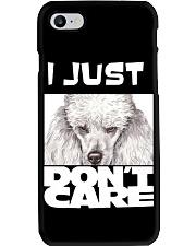 I Just Don'T Care Poodle Phone Case thumbnail