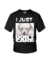 I Just Don'T Care Poodle Youth T-Shirt thumbnail