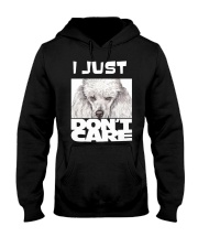 I Just Don'T Care Poodle Hooded Sweatshirt thumbnail