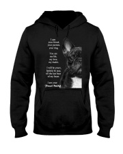 I am your friend your partner your dog french bull Hooded Sweatshirt thumbnail