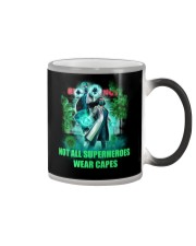 not all superheroes wear capes Color Changing Mug thumbnail