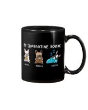 My Quarantine Routine frenchie2 Mug thumbnail