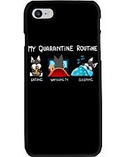 My Quarantine Routine schnauzer4 Phone Case thumbnail