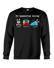 My Quarantine Routine schnauzer4 Crewneck Sweatshirt thumbnail