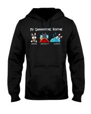 My Quarantine Routine schnauzer4 Hooded Sweatshirt thumbnail