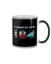 My Quarantine Routine schnauzer4 Color Changing Mug thumbnail