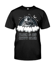 Black Is My Happy Color turtle Classic T-Shirt front