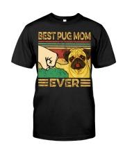 Best Pug Mom Classic T-Shirt front