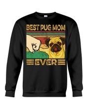 Best Pug Mom Crewneck Sweatshirt thumbnail