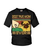 Best Pug Mom Youth T-Shirt thumbnail