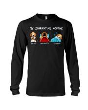 My Quarantine Routine beagle3 Long Sleeve Tee thumbnail
