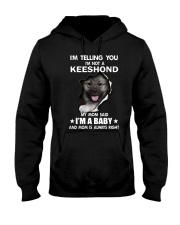 i'm telling you i'm not a keeshond  Hooded Sweatshirt thumbnail