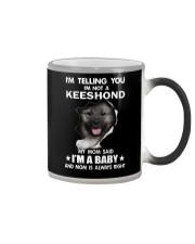 i'm telling you i'm not a keeshond  Color Changing Mug thumbnail