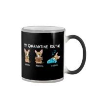My Quarantine Routine chihuahua2 Color Changing Mug thumbnail