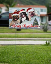 Frenchie Merry Christmas Yard Sign Cute Dog Sign Outdoor Decor 18x12 Yard Sign aos-yard-sign-18x12-lifestyle-front-09