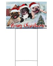 Frenchie Merry Christmas Yard Sign Cute Dog Sign Outdoor Decor 18x12 Yard Sign front