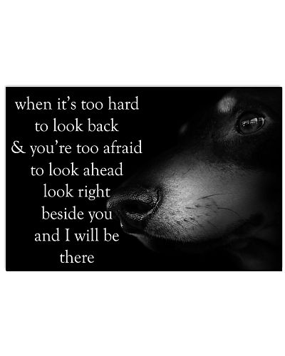 when it's to hard to look back dachshund poster