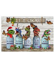 T-rex christmas 17x11 Poster front
