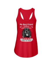 My Best Friend May Not Be My Family By Dachshund Ladies Flowy Tank thumbnail