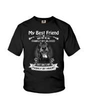 My Best Friend May Not Be My Family By Dachshund Youth T-Shirt thumbnail