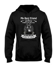 My Best Friend May Not Be My Family By Dachshund Hooded Sweatshirt thumbnail
