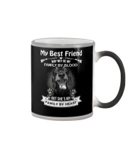 My Best Friend May Not Be My Family By Dachshund Color Changing Mug thumbnail